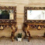 آیینه کنسول فایبرگلاس مدل قصرمستطیلی