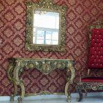 آیینه کنسول فایبرگلاس مدل قصرایتالیایی