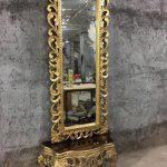 آینه و کنسول الیزه و قاب 180
