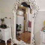 قاب آینه منبت گل بلند