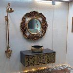 قاب آینه فایبرگلاس مدل گرد کلاسیک