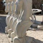 نیم تنه اسب فایبرگلاس مدل شطرنجی