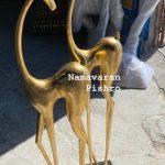 مدل غزال ورق طلا فایبرگلاس